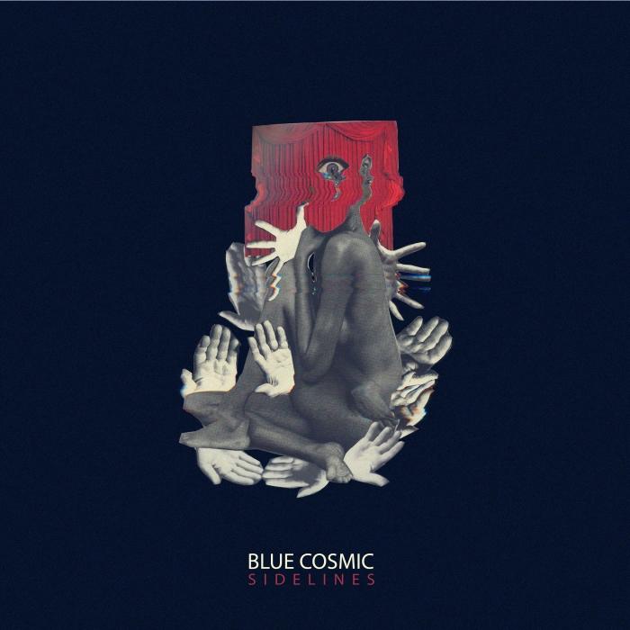 2019 Blue Cosmic - Sidelines Artwork 1811- collage mitte- edel -zentrierte schrift-100